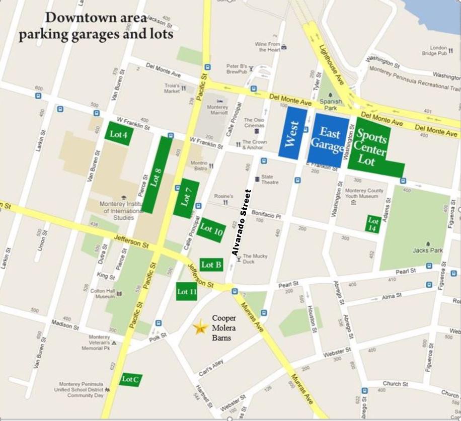 Downtown Monterey Map