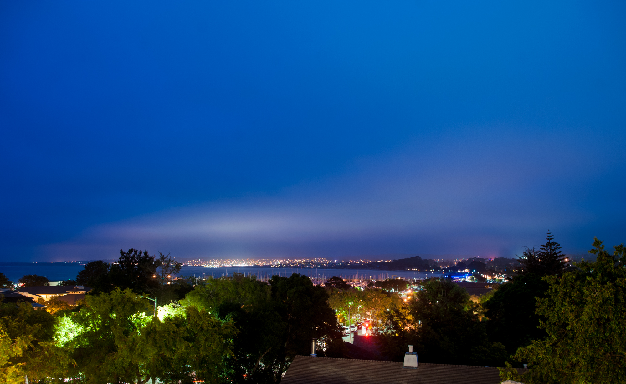 City Lights View at The Perry House Monterey Event Venue
