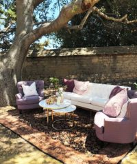 Lounge Area Under Oak Tree at Cooper Molera Barns