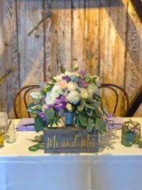 Bride & Groom Sweetheart table at the Barns at Cooper Molera