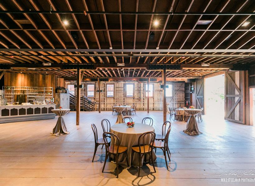 Barns Roaming Reception set-up