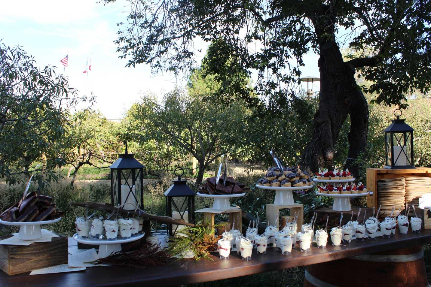 Dessert Table in Cooper Molera Orchard