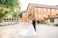 Wedding Couple at Cooper Molera Monterey Barns