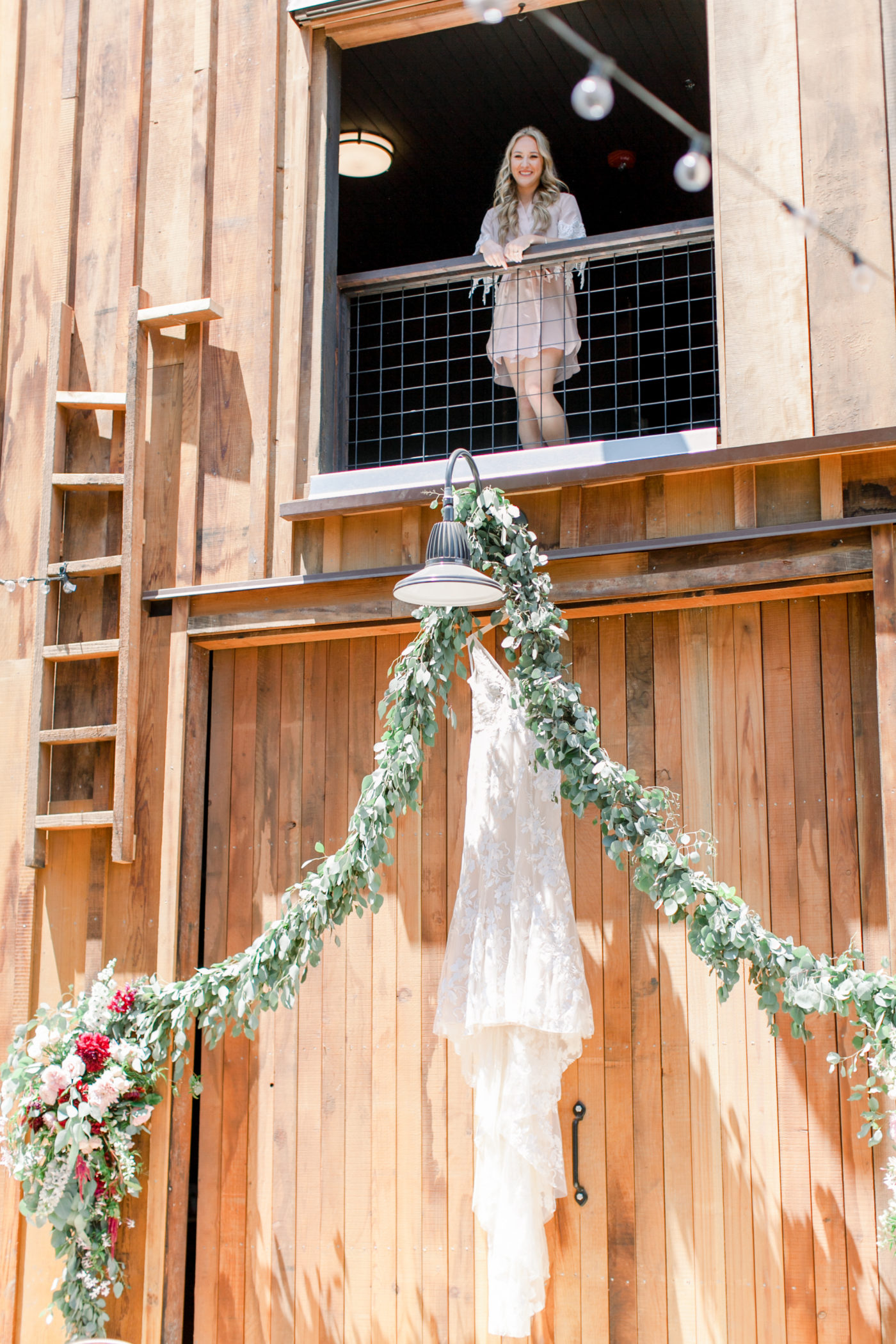 Getting ready for a wedding at the Cooper Molera Barns in Monterey
