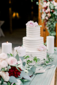 Wedding Reception Cake at The Cooper Molera Barns