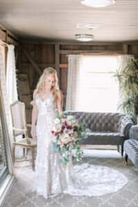 Bride in The Barns Dressing Suite