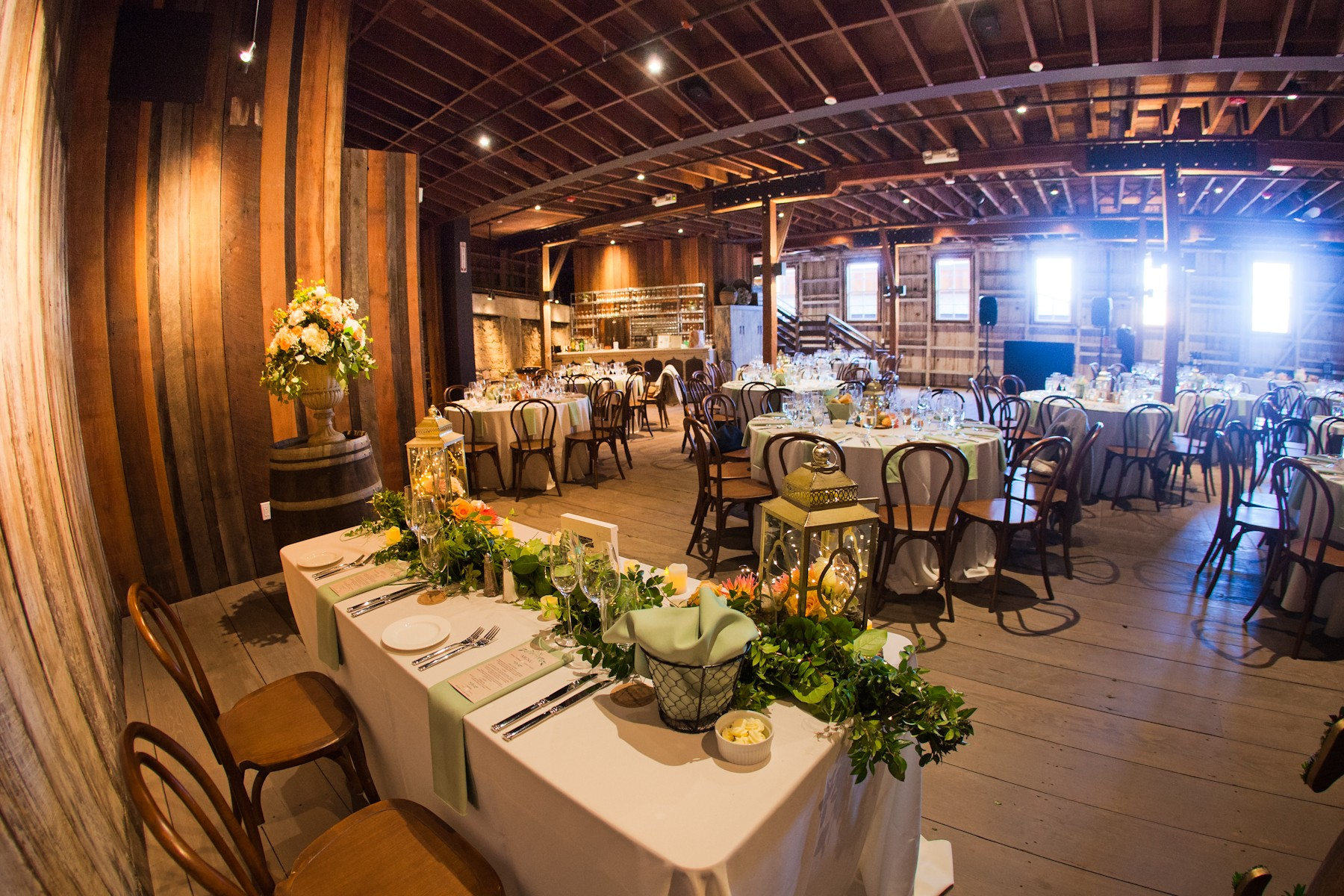 Cooper Molera Barns Dinner Set up Option