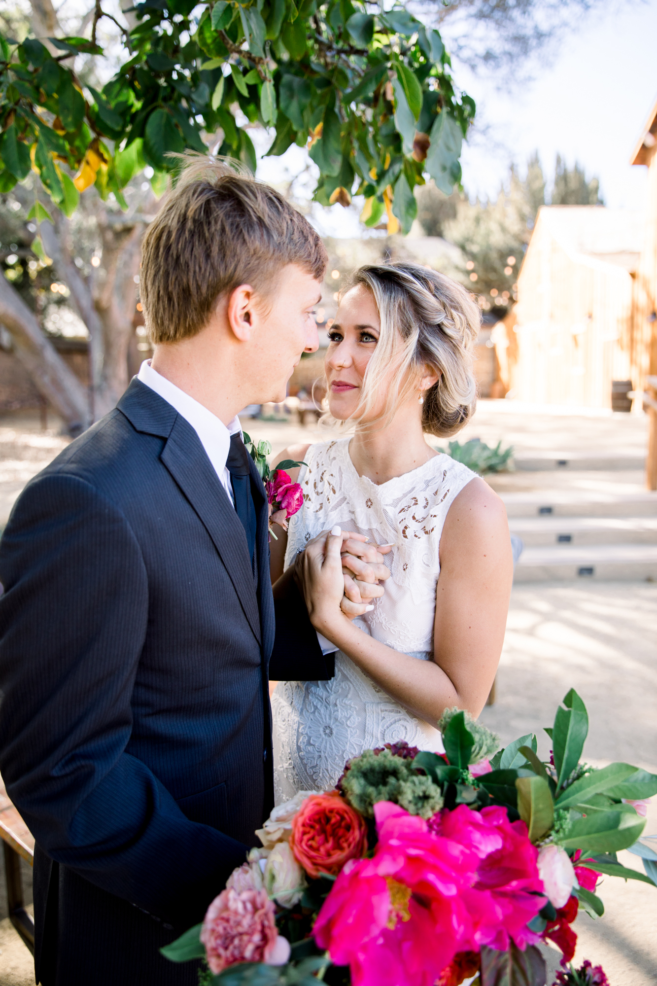 Couple at Cooper Molera Barns in Monterey - De Joy Photography
