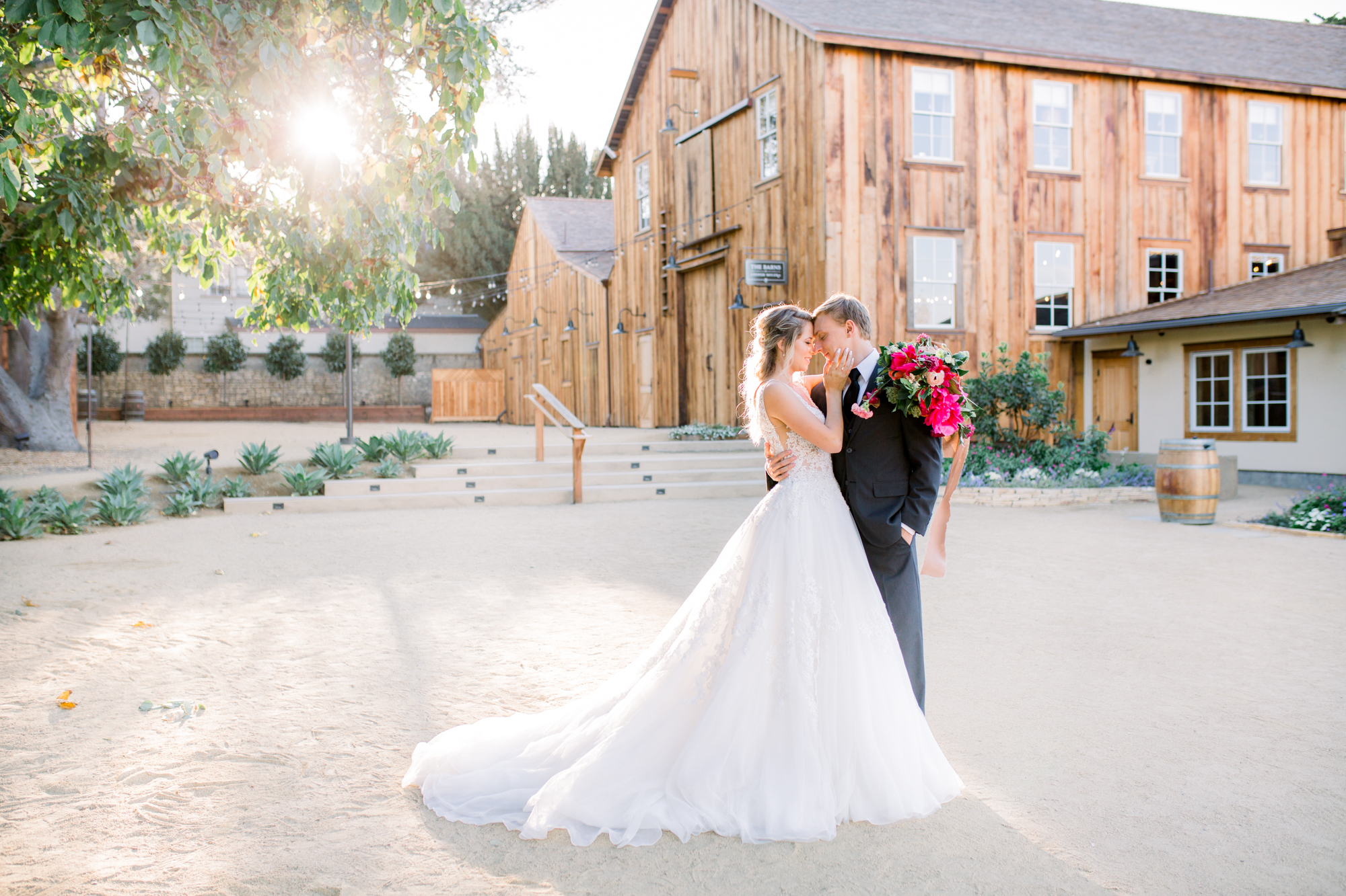 Couple Barns at Cooper Molera Monterey Wedding Venue