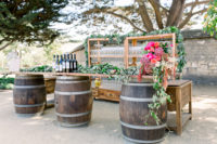 Outdoor bar set-up at Cooper Molera Barns Event Venue