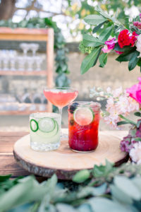 Signature Drinks Displayed at Outdoor Bar at Barns Event Center Montere