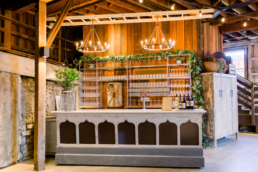 Custom Bar and lighting at Cooper Molera Special Events Venue