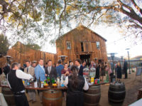 Guests Mingling at Cooper Molera Barns Event Center in Monterey