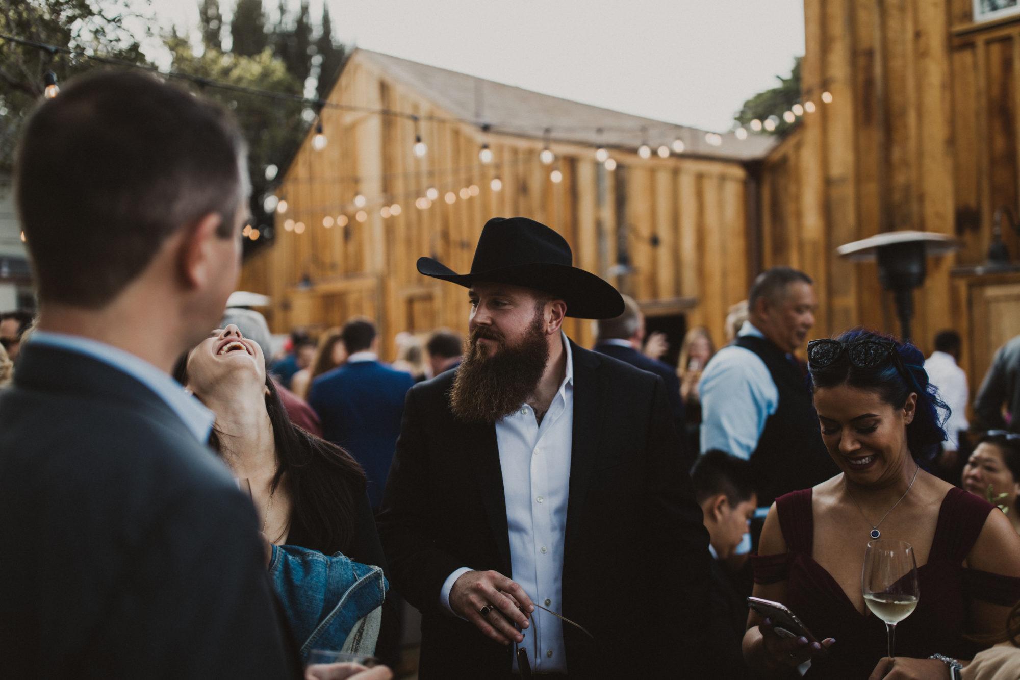 Cooper Molera Barns Guests at Cocktail Hour